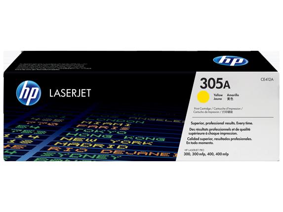 HP toner žltý HP305A /vyťaženosť cca 2600str/