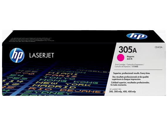 HP toner purpurový HP305A /vyťaženosť cca 2600str/
