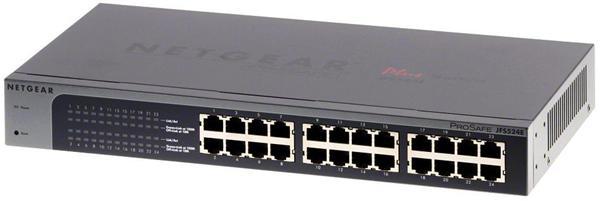 NETGEAR ProSafe switch 24 x 10/100 Mbps,metal case, rackmount,management via PC utility