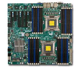 Supermicro Motherboard Xeon X9DRi-LN4F+ Dual socket R (LGA 2011) Intel® i350 Quad port GbE LAN