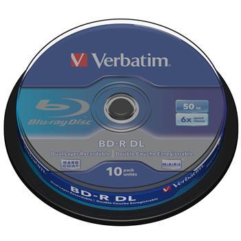 VERBATIM BD-R DL 50GB 6x spindl 10pck/BAL