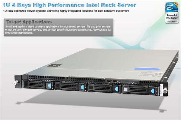 Intel® 1U Server System R1304GZ4GC Grizzly Pass) S2600GZ4 board 1U 4xHS 2x750W