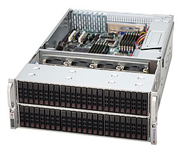 Supermicro® Chassis CSE-417E26-R1400LPB, 4U, Dual SAS-II Expander, Redundant PSU 1400W, Low Profile, Black