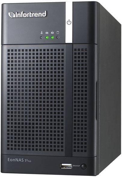 Infortrend,EonNAS Pro 200,2-bay NAS Storage, 2 x GbE, 4GB,RAID 0, 1, VMware®, Citrix®