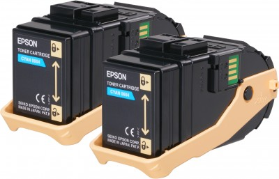 Epson toner Aculaser C9300 cyan double pack 2x 7500str.