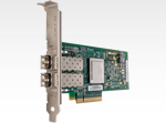 QLOGIC 8Gb Dual Port FC HBA, x8 PCIe, LC multi-mode optic