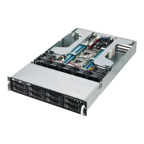 ASUS Server barebone ESC4000/ G2,2x Xeon E5-26xx 8x hotswap HDD 4x Tesla GPU 2x 1G LAN 2U , rack