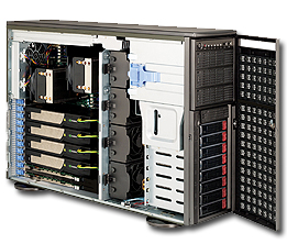 Supermicro Server SYS-7047GR-TPRF-FM409 4x NVIDIA M2090 TESLA FERMI GPU cards