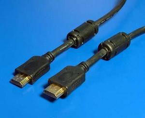 kábel HDMI-HDMI 20m M/M, tienený s feritom, standard 1.3 HQ