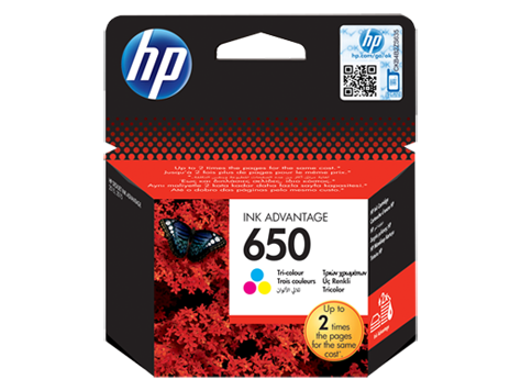 HP náplň c. 650 trojfarebná 200str