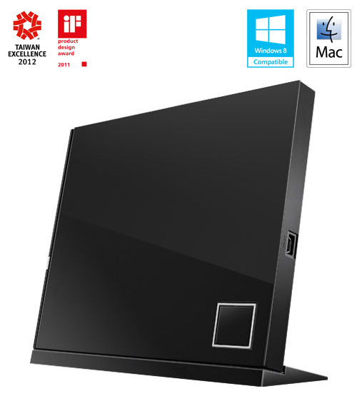 ASUS BLURAY SBC-06D2X-U/BLK/G/AS Combo, External, Retail, čierna