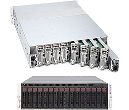 Supermicro Server SYS-5037MR-H8TRF, 3U, 8 x Micro Cloud Nodes, Intel Chipset, SATA, IPMI - Black