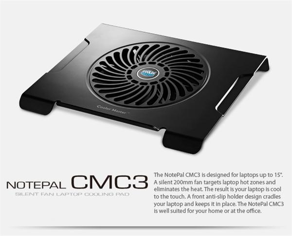 chladiaci podstavec Coolermaster CMC3 pro NTB 12-15