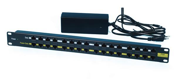 CNS patch panel 12port POE + zdroj 24V/5A (120W)