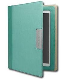 Cygnett Alumni obal pre iPad 3/4, trvácne plátno, zelenkavý