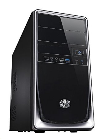 CoolerMaster case minitower Elite 344, mATX,čierno-strieborná, USB3.0, bez zdroja