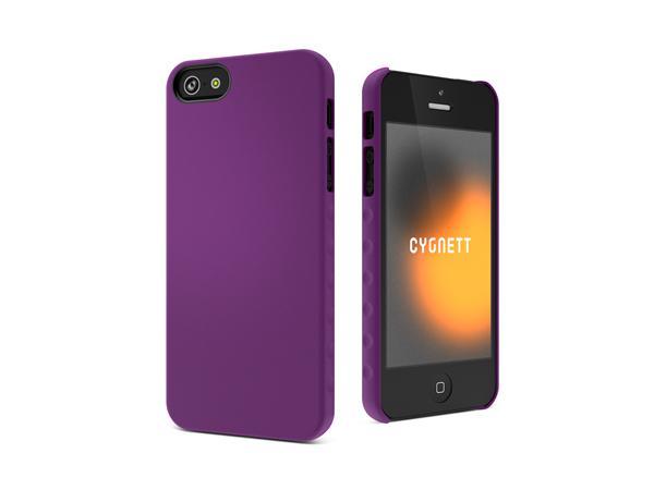 Cygnett, obal AeroGrip Feel pre iPhone 5/5S/SE, fialový