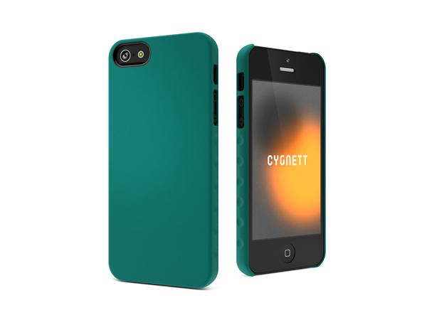 Cygnett, obal AeroGrip Feel pre iPhone 5/5S/SE, tmavozelený