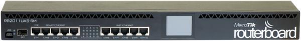 MIKROTIK RouterBOARD 2011UiAS-RM + L5 (600MHz; 128MB RAM,5xLAN, 5xGLAN, 1xSFP, LCD, rackmount, zdroj)