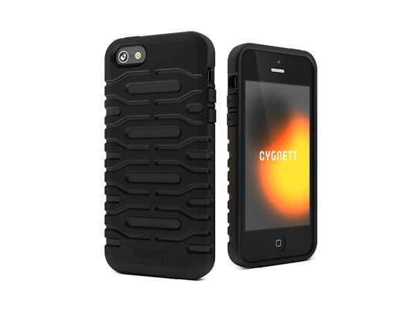 Cygnett, obal Bulldozer pre iPhone 5/5S/SE, odolný, silikónový, čierny