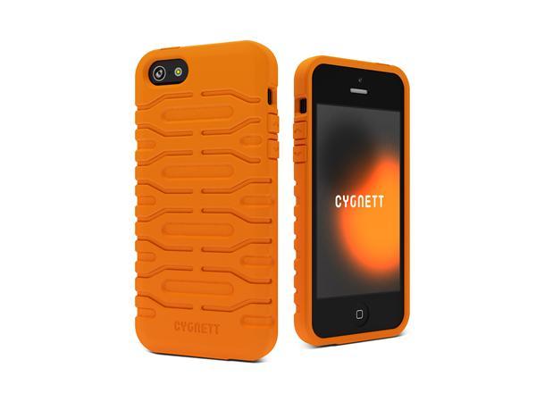 Cygnett, obal Bulldozer pre iPhone 5/5S/SE, silikónový, oranžový