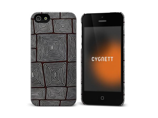 Cygnett, obal Icon pre iPhone 5/5S/SE, White Lines Art