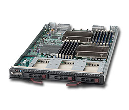 Supermicro SuperBlade-14Module SBI-7427R-S3 2x XeonE5-2xx, 3 x 2.5