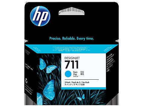 HP náplň č. 711 azúrová, 29 ml - 3 ks v balení