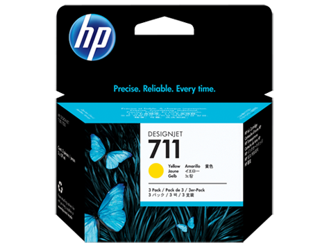 HP náplň č. 711 žltá, 29 ml - 3 ks v balení