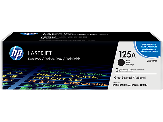 HP čierny Toner Color LaserJet CP1215/1515 2200 strán dual pack