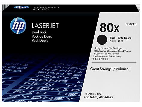HP toner black pre LJ Pro400 M401 - HP80X Dual pack