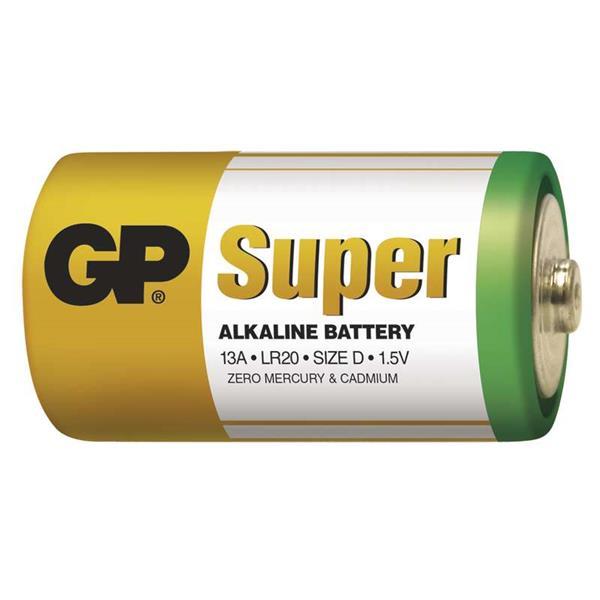 GP alkalická D batéria, balenie 2 ks. LR20 ( veľké mono, D)