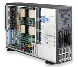 Supermicro Server SYS-8047R-TRF+ 4x Xeon E5-4600 tower 1400W Redundant