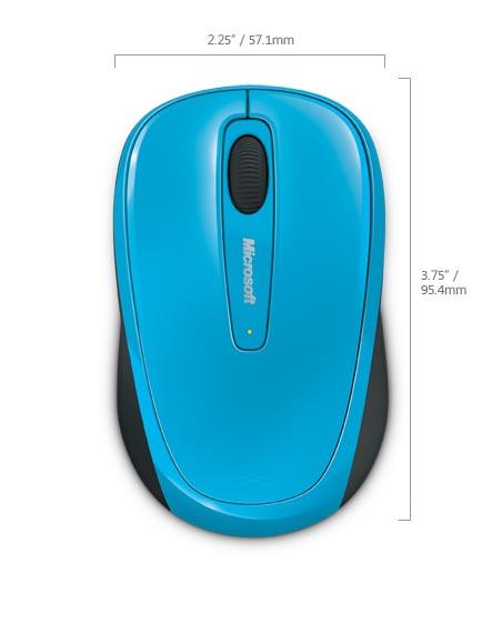 Myš L2 Wireless Mobile Mouse 3500 Mac/Win - Cyan Blue modra