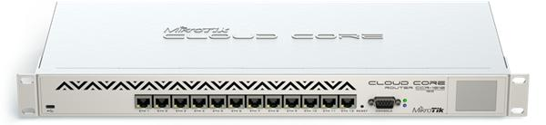 MIKROTIK RouterBOARD Cloud Core Router 1016 + L6(1,2GHz, 2GB RAM, 12x GLAN, USB) rack