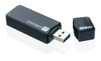 CONNECT IT USB 3.0 čítačka kariet GEAR čierna, podporuje aj SDXC