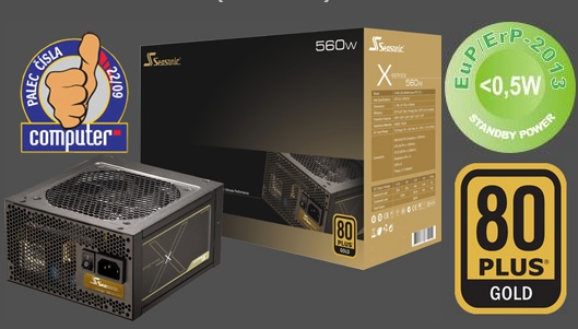 Zdroj 650W, SEASONIC X-650 ( SS-650KM3 F3 ) 80PLUS Gold, Retail, modular