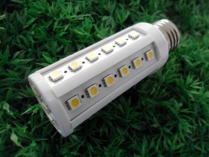 LED žiarovka E27 corn 44x5050 SMD, 7,5W, 630 lm, teplá biela
