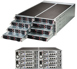 Supermicro Server FatTwin SYS-F617R2-RT+ 8xhot-plug nodes dual CPU E5-26xx 4U