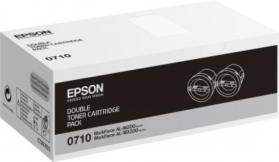 Epson toner AcuLaser M200/MX200 double pack black