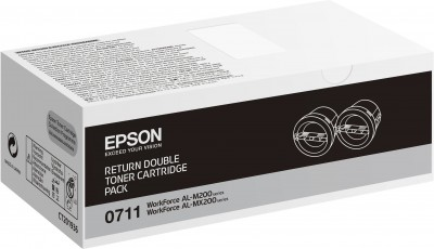 Epson toner AcuLaser M200/MX200 double pack black - return