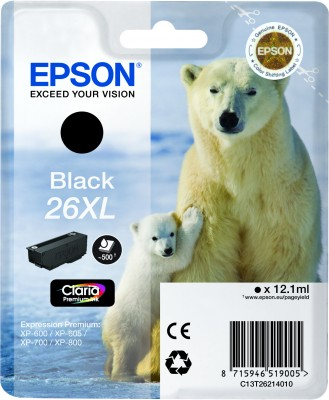 Epson atrament XP-600/XP-700 black XL