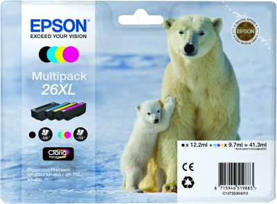 Epson atrament XP-600/XP-700/XP-800 multipack CMYK XL