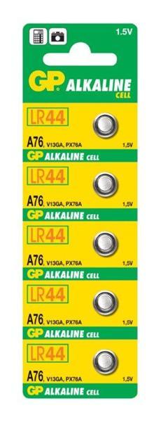 GP alkalická batéria gombíková A76 ( LR44 V13GA). Cena za 1 kus