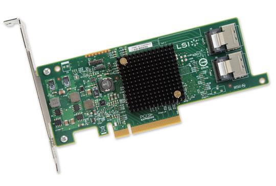 LSI SAS 9207-8I , PCI-E 6Gb/s, SATA/SAS HBA 8-ch, bulk