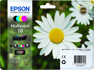 Epson atrament XP-305 multipack CMYK