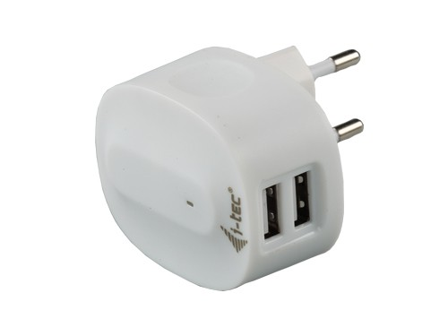i-tec Dual USB Power Charger 2,1A, (iPad & iPad mini & iPhone 5 ready)