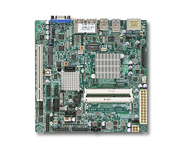 Supermicro Mini ITX MBAtom™ N2800 2x SATA 1xmSata, 2x1G LAN