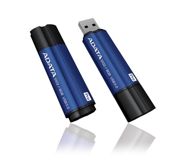 64 GB . USB klúč . ADATA DashDrive™ Elite Superier S102 PRO, USB 3.0, modrý