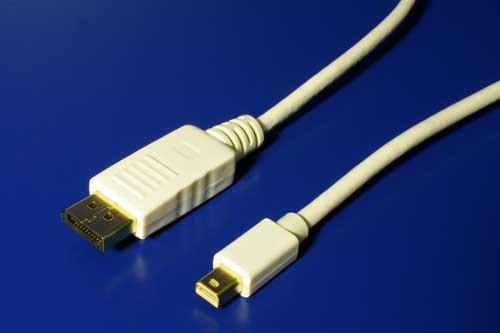 Kábel Mini-DisplayPort to DisplayPort adapter. DP- mini DP redukcia 2m biely